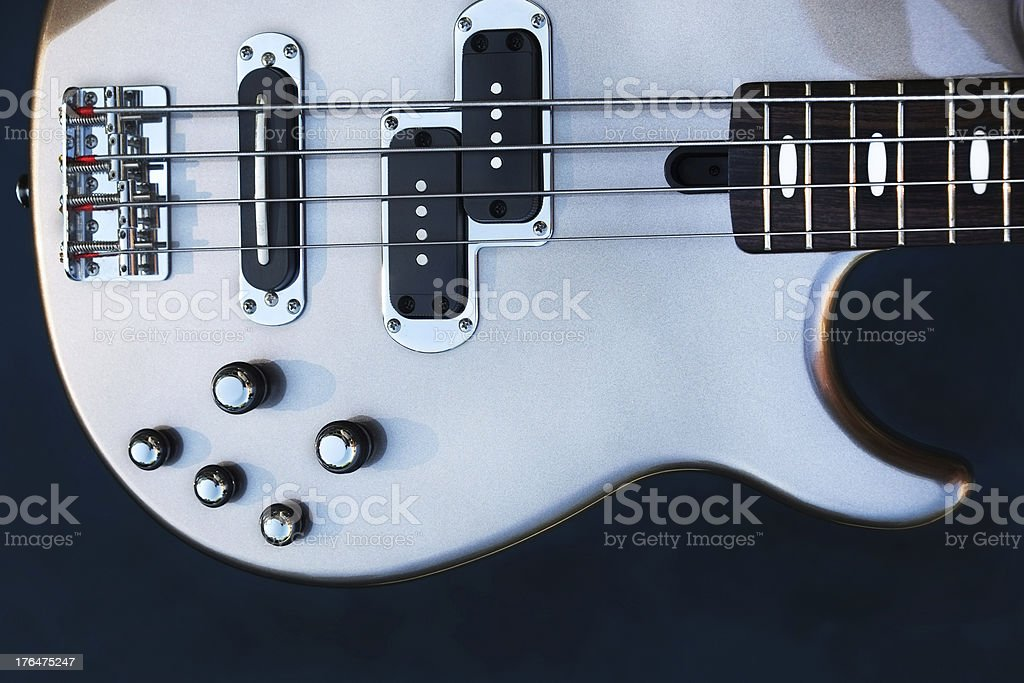Bass Guitar Pewter royalty-free stock photo