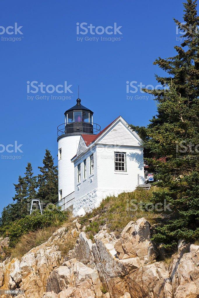 Bass Harbor Head Light In Maine royalty-free stock photo