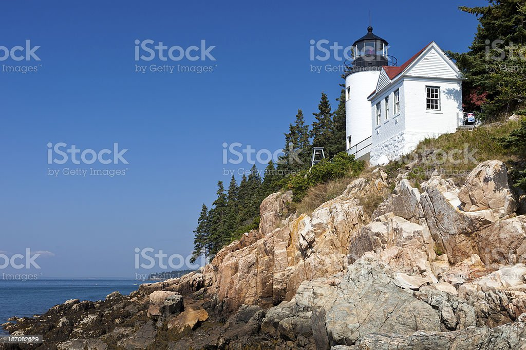 Bass Harbor Head Light In Maine royalty-free stock photo