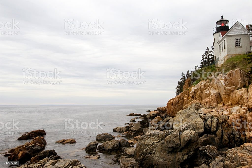 Bass Harbor Head lighthouse stock photo