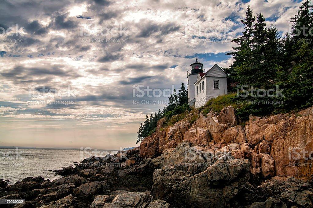 Farol de Bass Harbor e Acadia National Park, Maine foto royalty-free