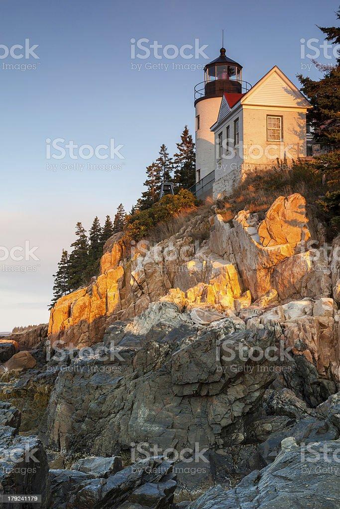 Bass Harbor Lighthouse, Acadia National Park, Maine, USA royalty-free stock photo