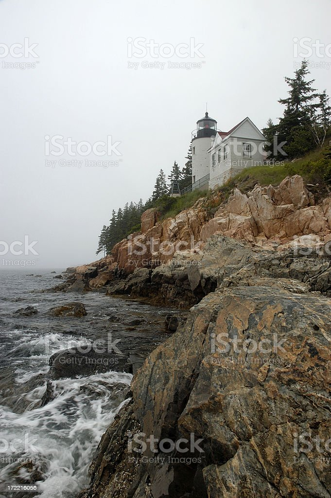 Bass Harbor lighthouse - Maine royalty-free stock photo