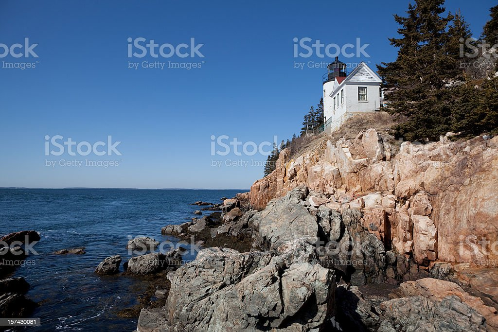 Bass Harbor Lighthouse royalty-free stock photo
