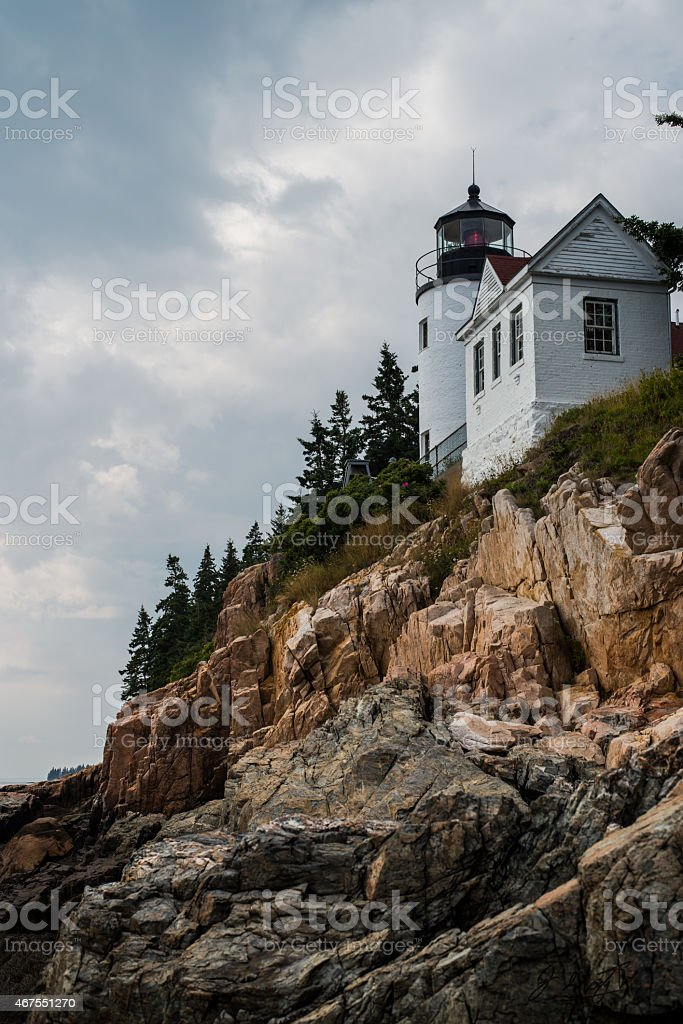 Bass Harbour Lighthouse stock photo