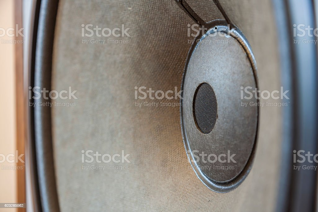 Bass Loudspeaker stock photo
