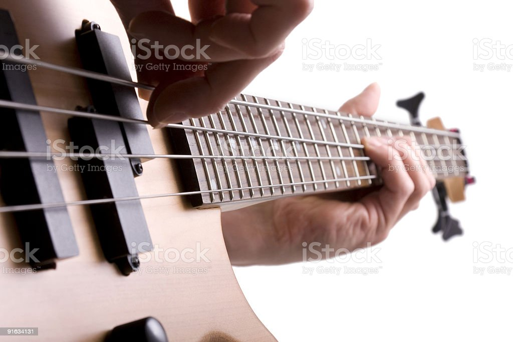 Bass player royalty-free stock photo