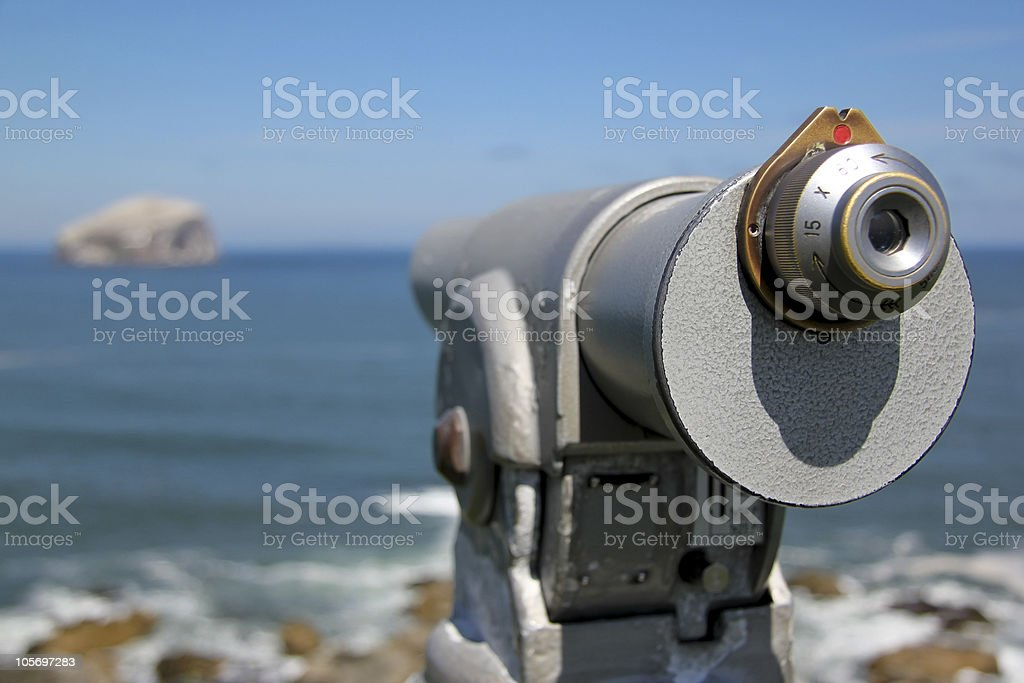 bass rock telescope firth of forth scotland royalty-free stock photo