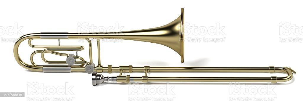 bass trombone stock photo