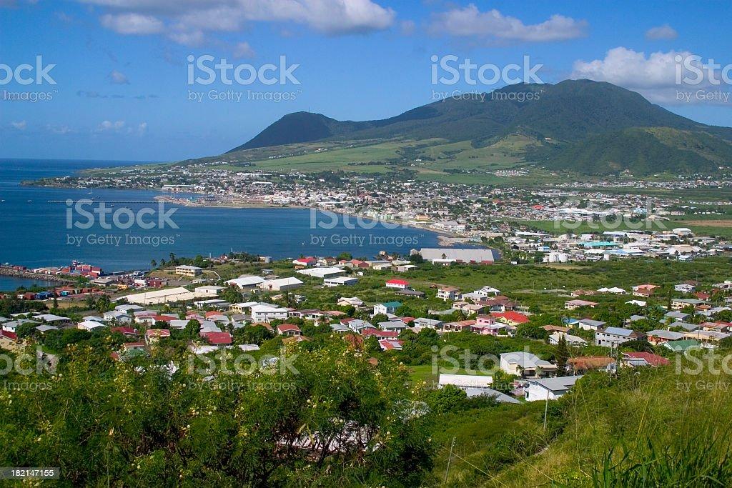 Basseterre St. Kitt's Nevis stock photo