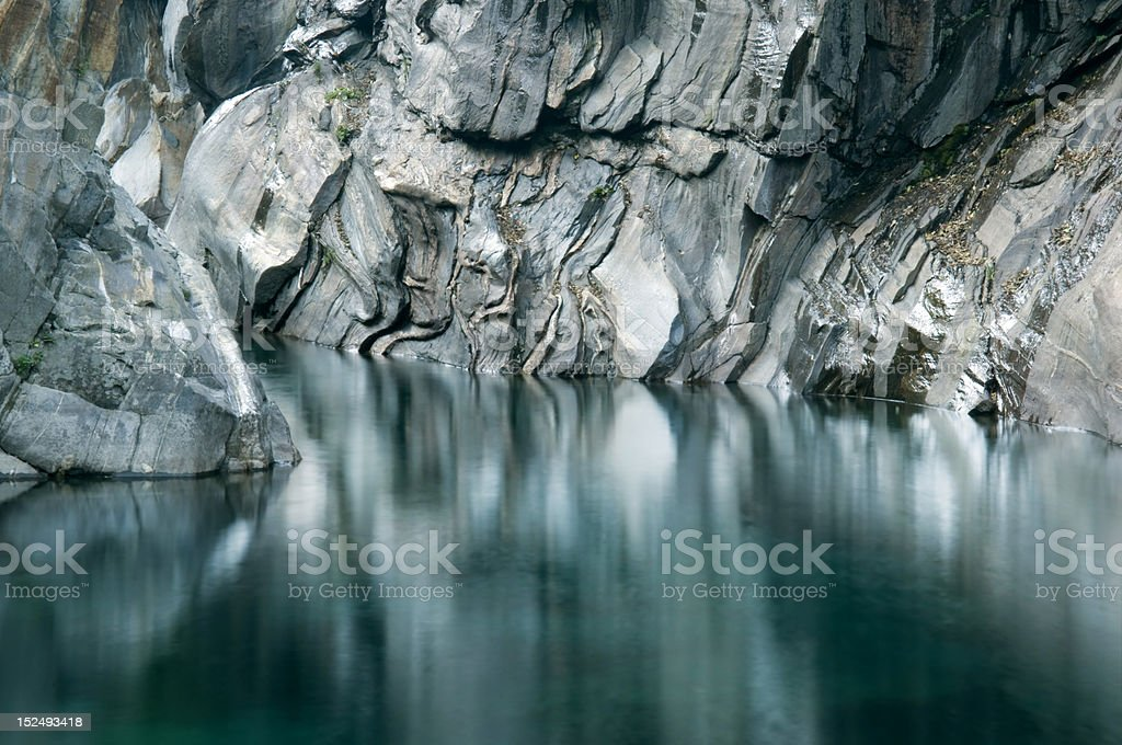 Bassin of Verzasca River stock photo