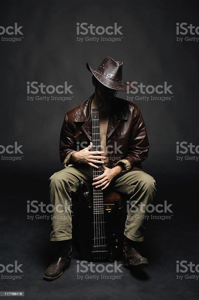 bassist stock photo