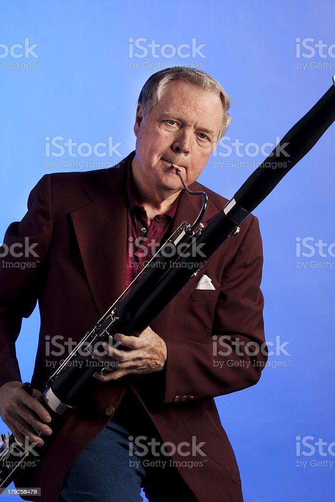 Bassoon Person Isolated stock photo