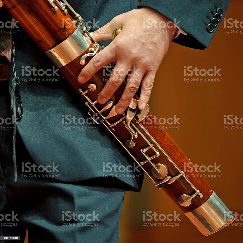 bassoonist on chamber music stock photo
