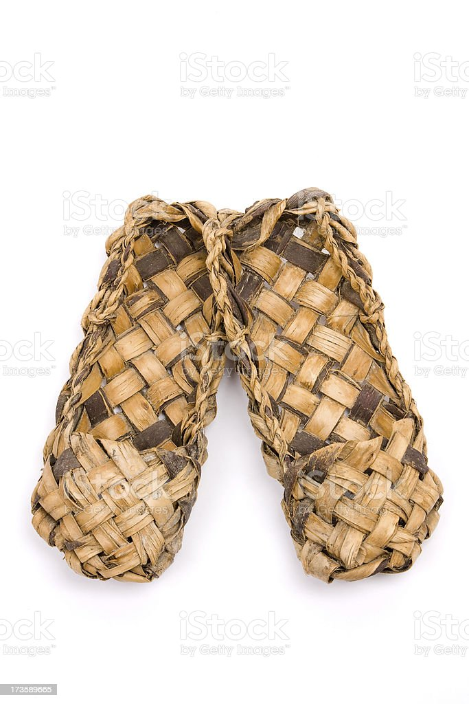 Bast shoes. royalty-free stock photo