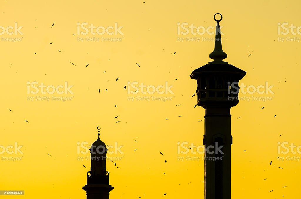 Bastakia Quarter Bur Dubai Dubai United Arab Emirates stock photo