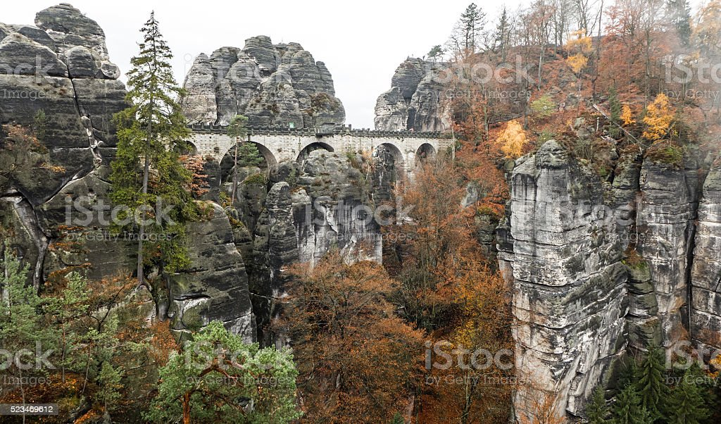 Bastei bridge, Germany stock photo