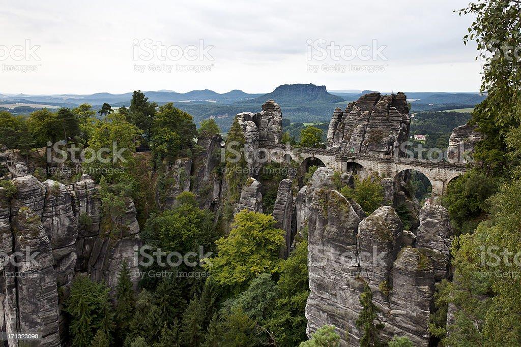 Bastei Bridge. stock photo