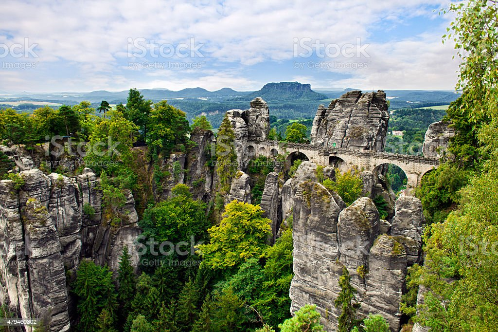 Bastei Bridge. stock photo