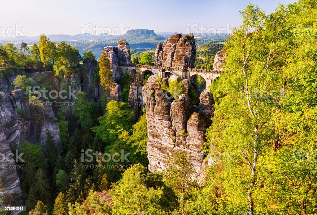 Bastei Bridge stock photo