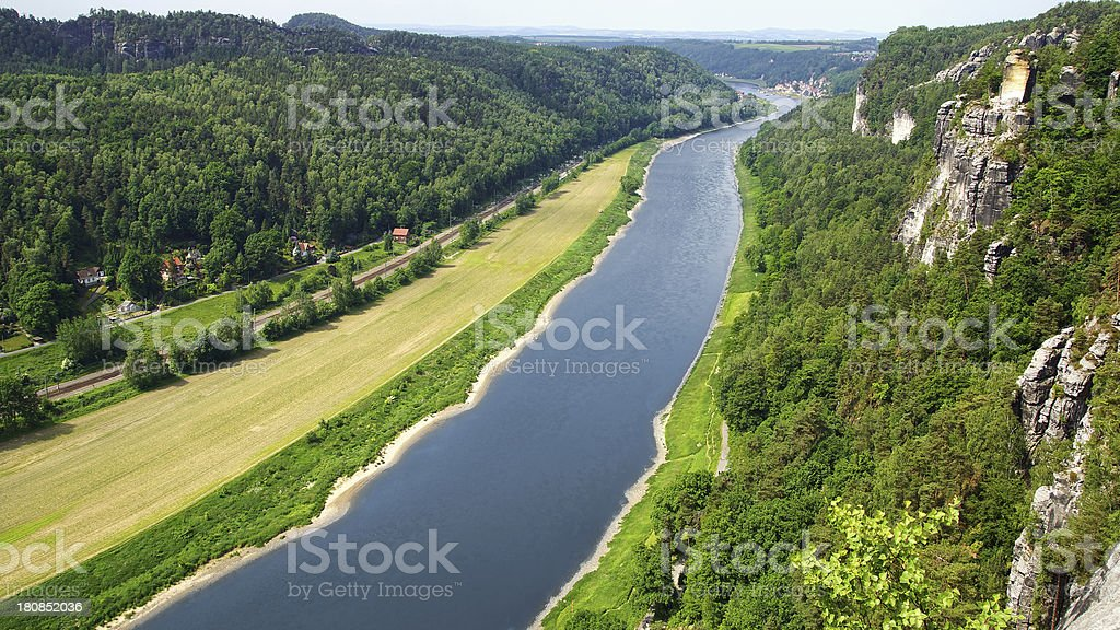 Bastei on the river Elbe, Germany royalty-free stock photo