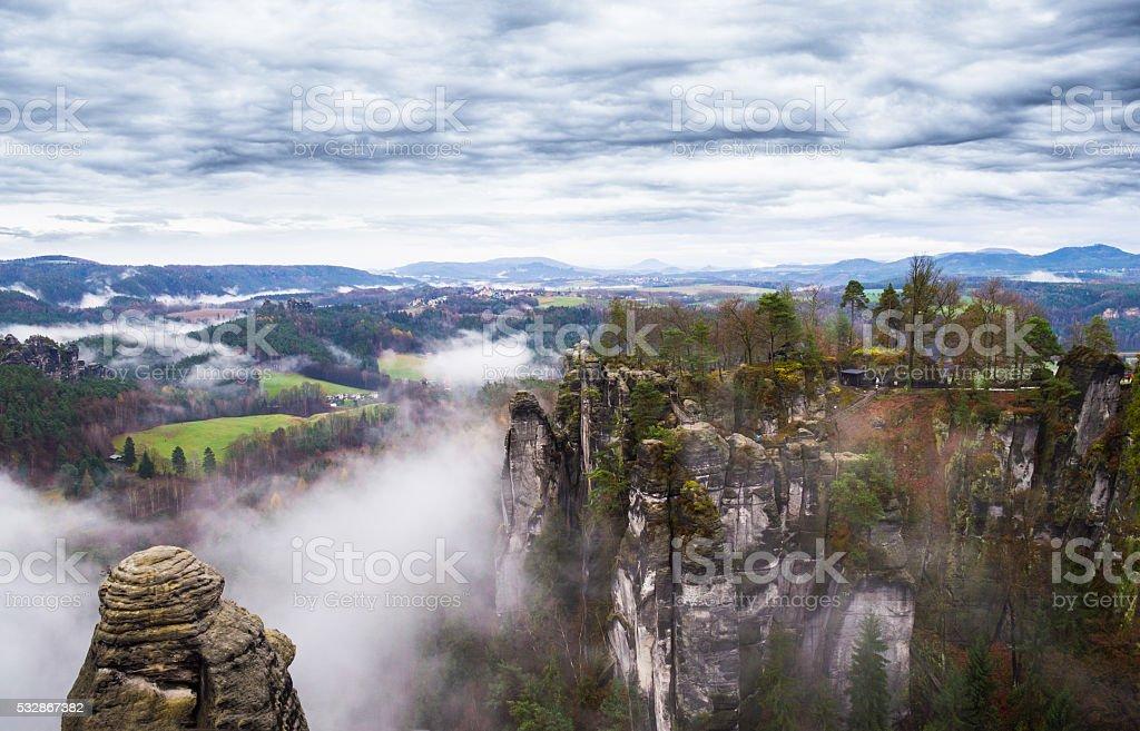 Bastei. Saxon Switzerland stock photo