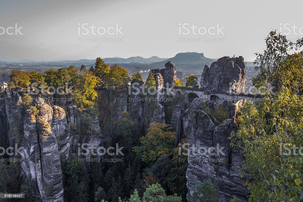 Basteibrücke Sächsische Schweiz stock photo