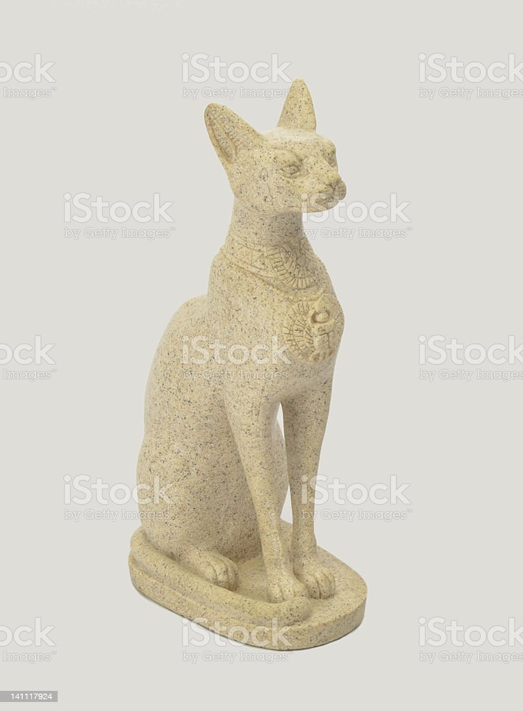 Bastet, cat goddess of ancient Egyptian religion stock photo