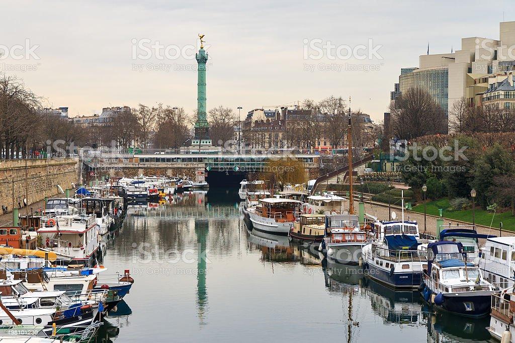 Bastille harbor stock photo