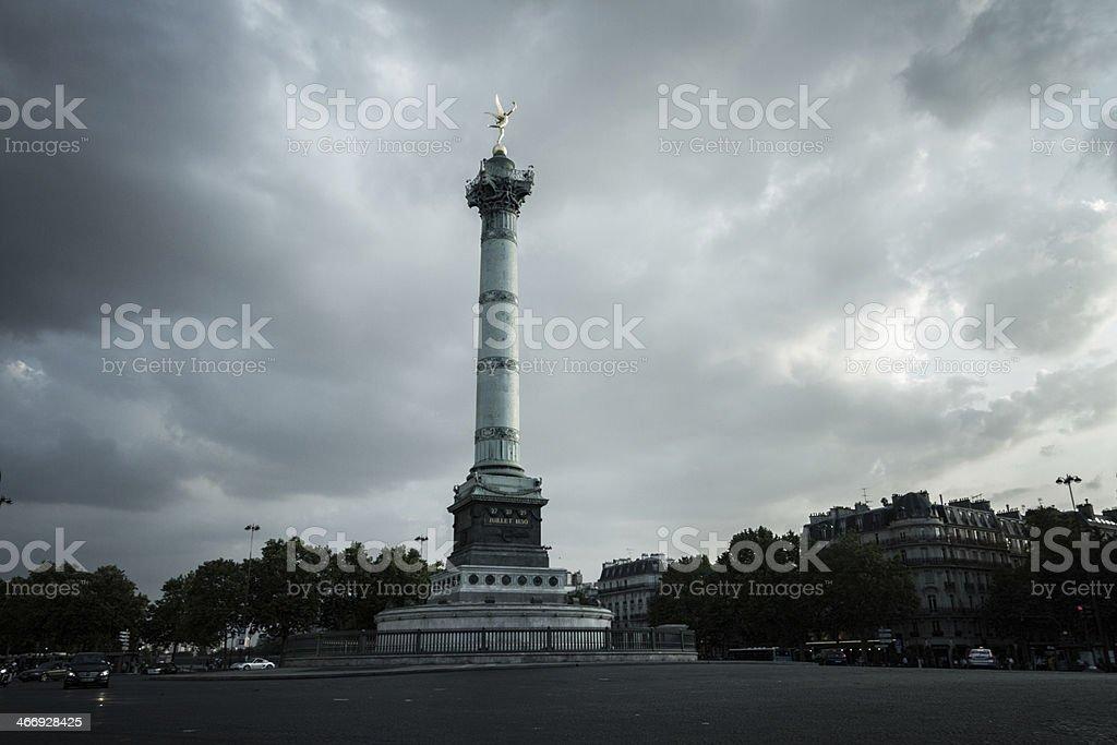 Bastille in Paris stock photo