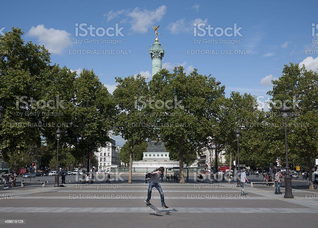 Bastille Paris stock photo