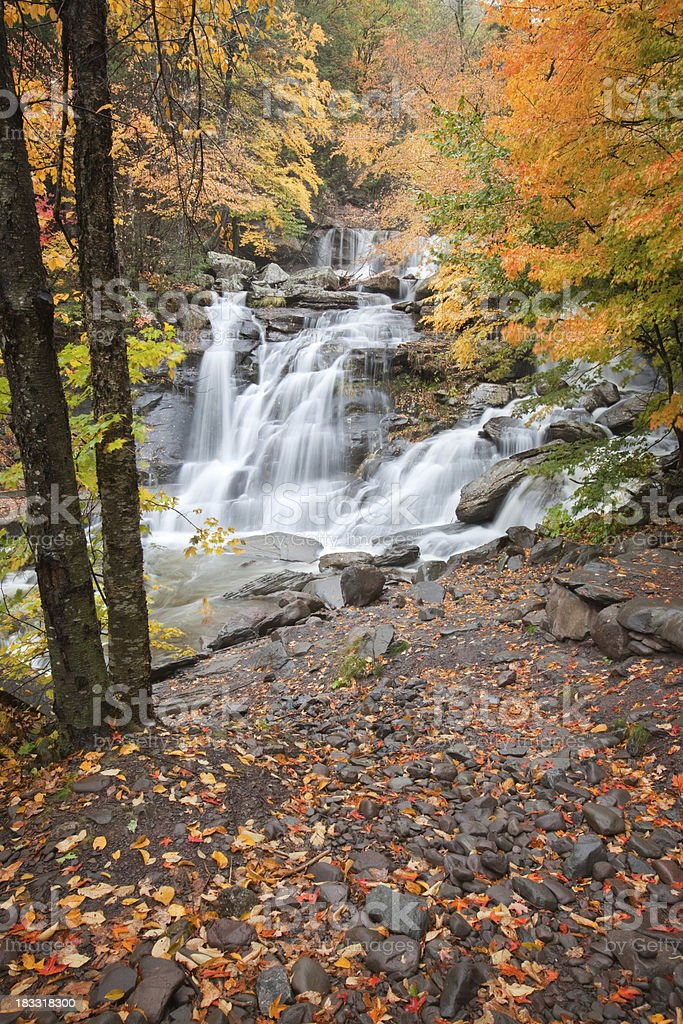 Bastion Falls, Catskills stock photo