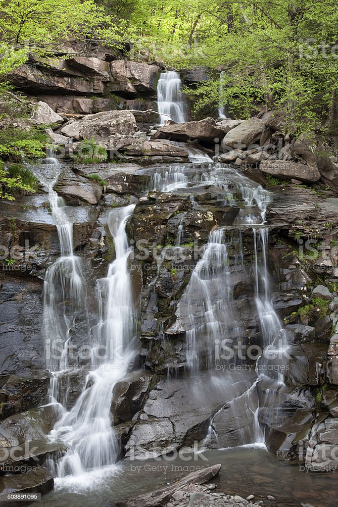 Bastion Falls Overview stock photo