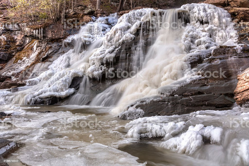 Bastion Falls Winter Icicles stock photo