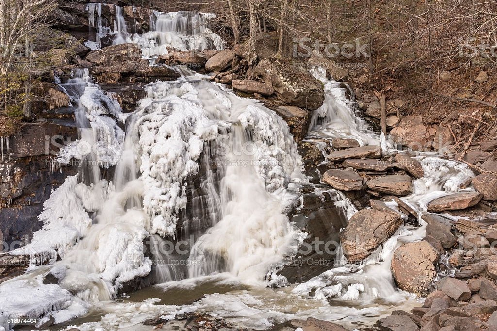 Bastion Falls Winter stock photo