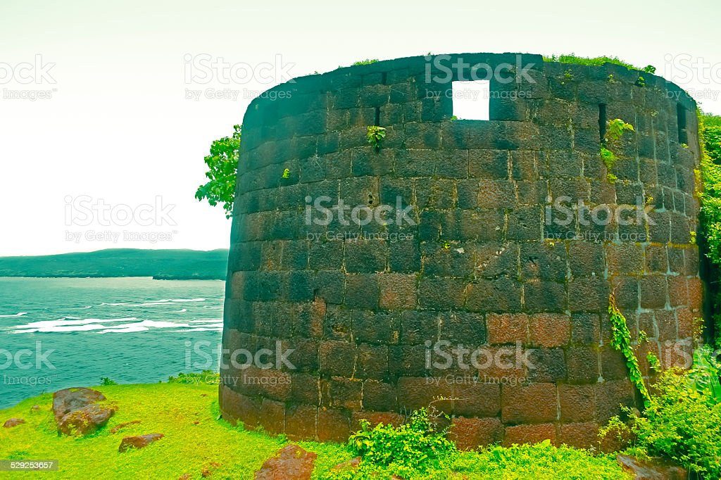 Bastion, Gopalgad fort stock photo