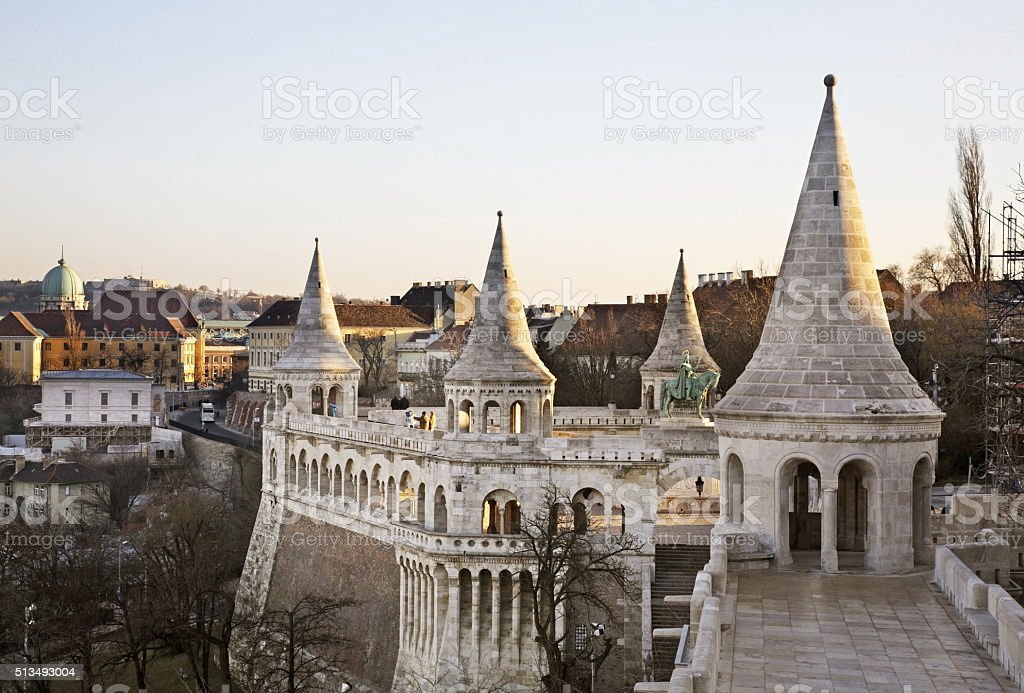 Bastion of Fisherman in Budapest. Hungary stock photo