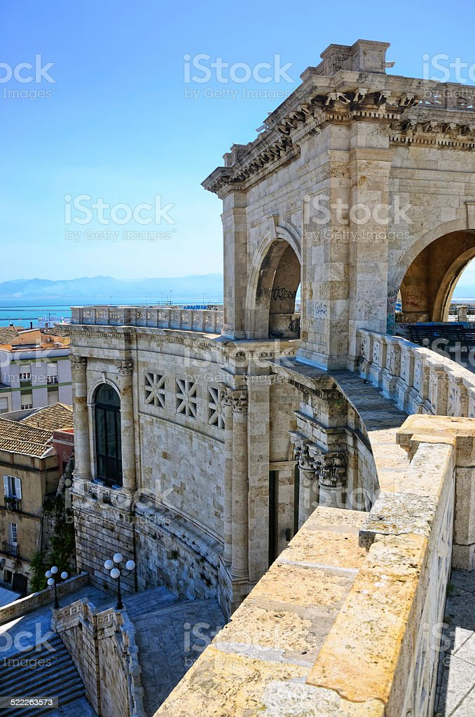 Bastion of Saint Remy, Cagliari stock photo