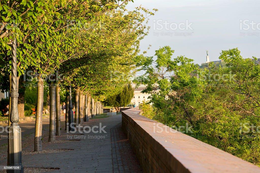 Bastion Promenade in Budapest stock photo