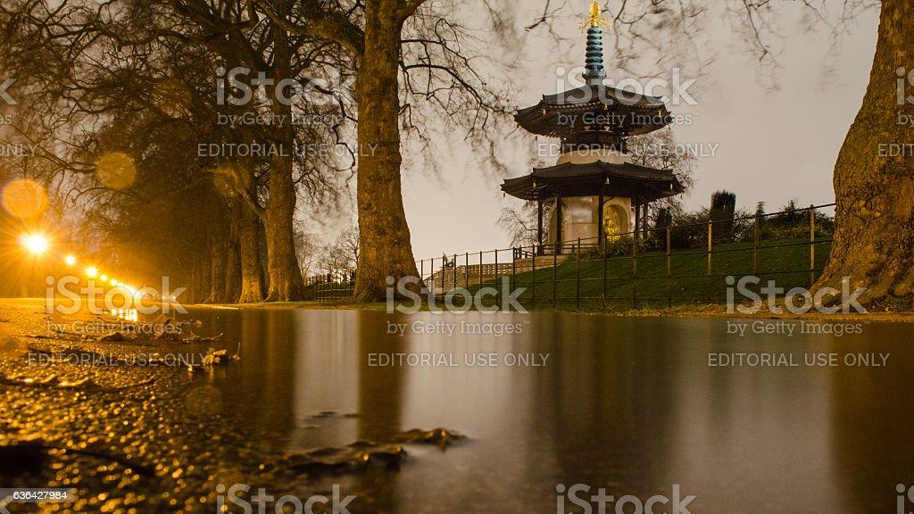 Basttersea Park Peace Pagoda stock photo