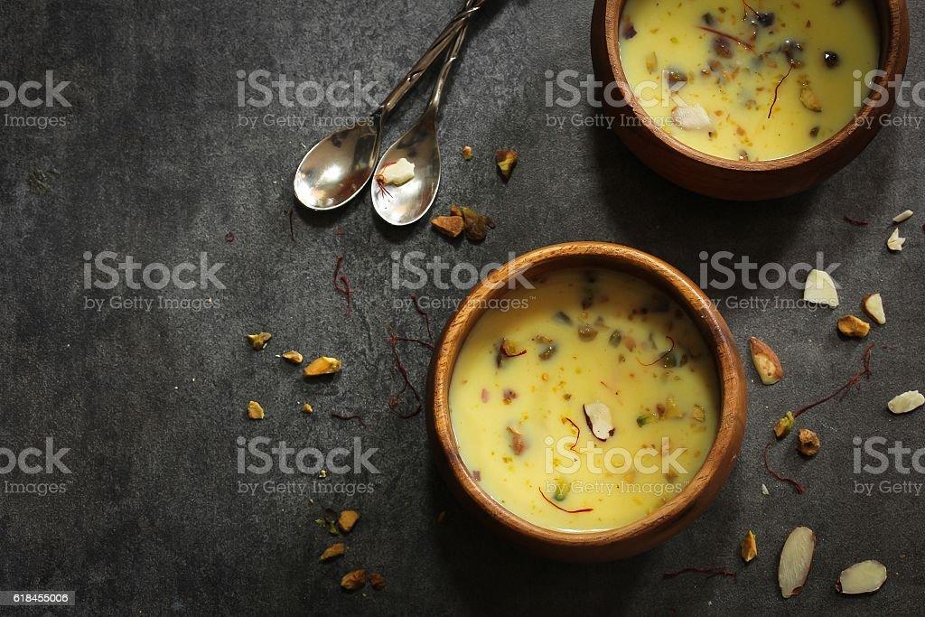 Basundi / Rabri - Indian Milk pudding for  Diwali stock photo