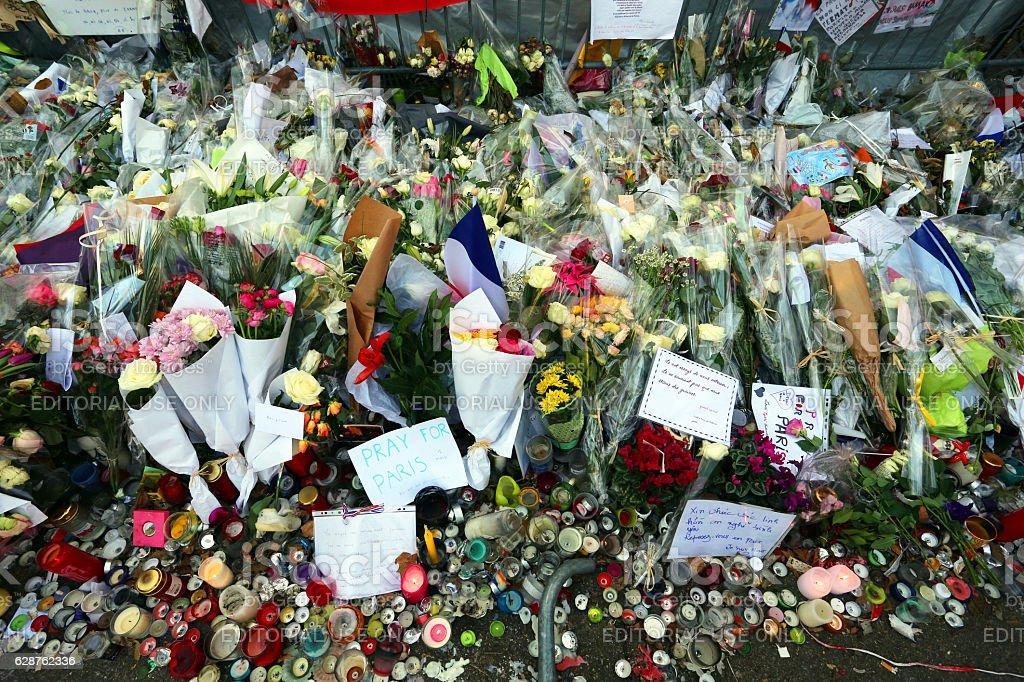 Bataclan Theatre Terror Attack stock photo