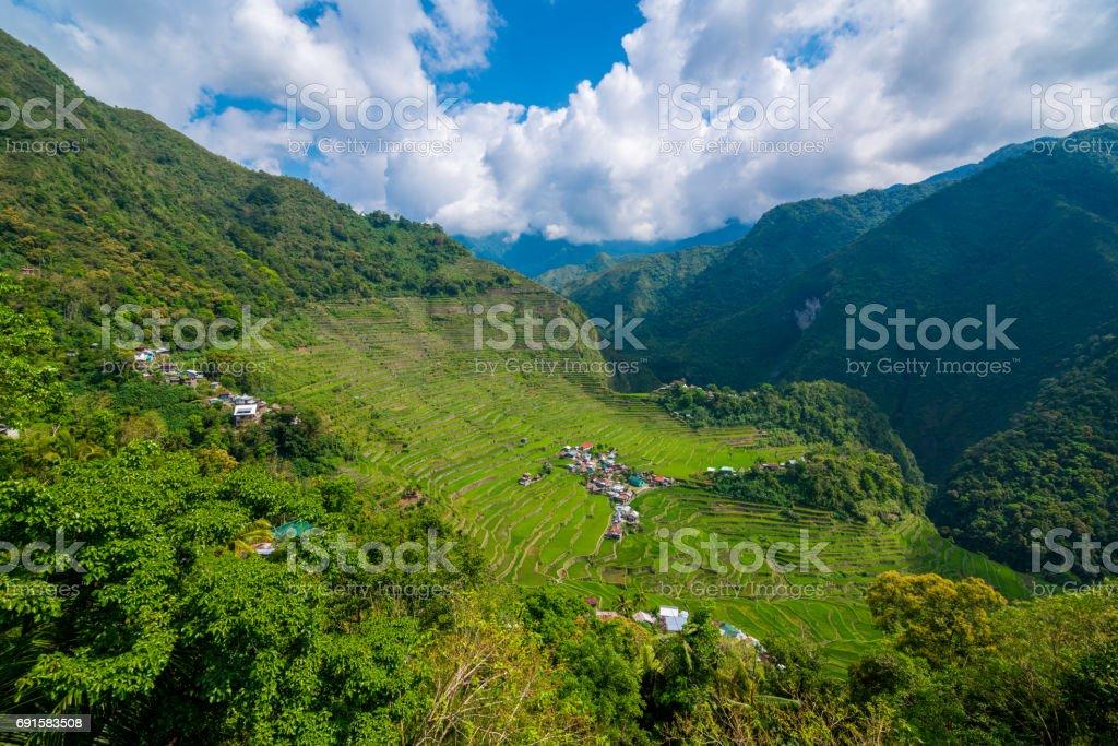 Batad Rice Terraces near Banaue, Philippines stock photo