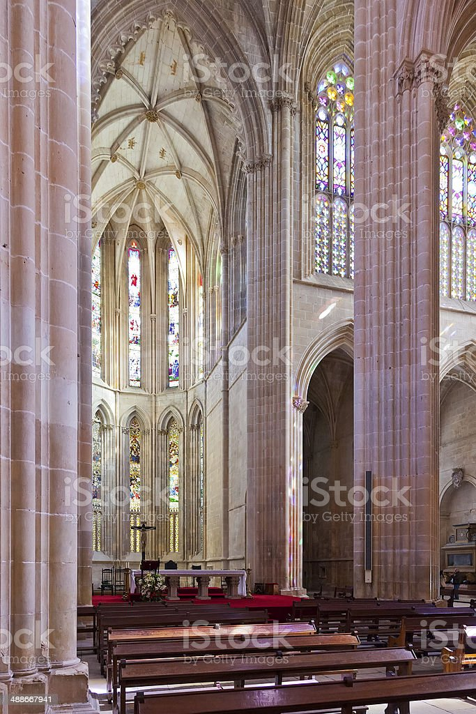 Batalha Monastery. Altar and  Apse of the Church royalty-free stock photo