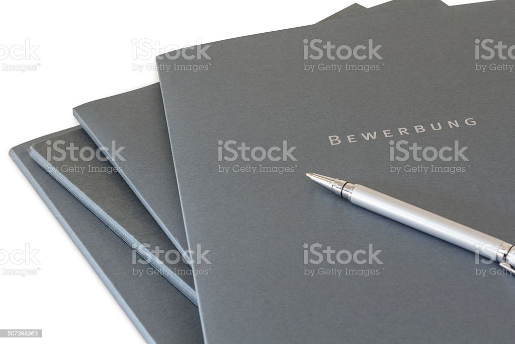 Batch of job applications stock photo