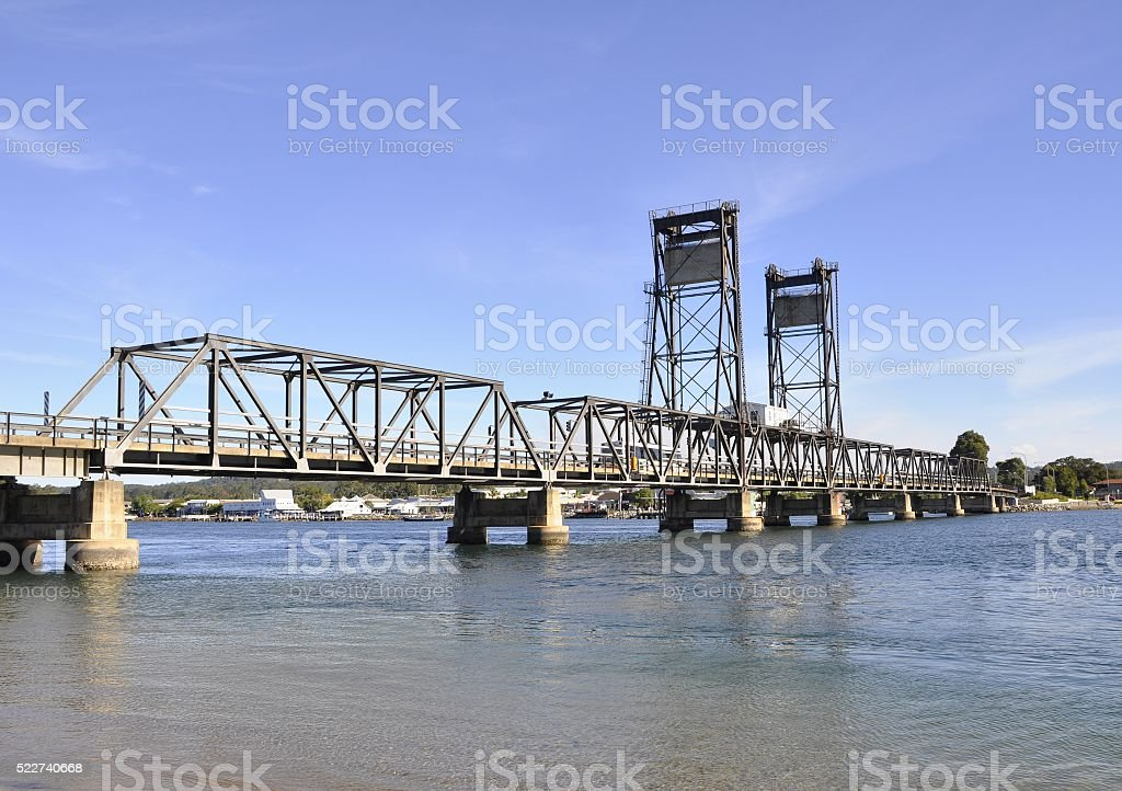 Batemans bay bridge stock photo