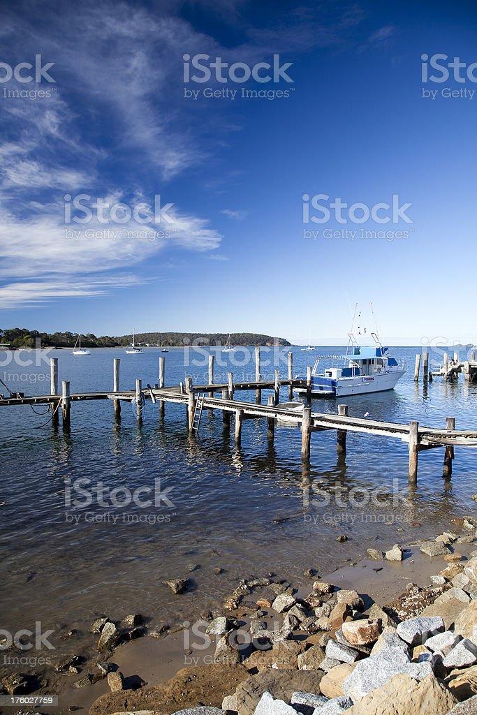 batemans bay jetty stock photo