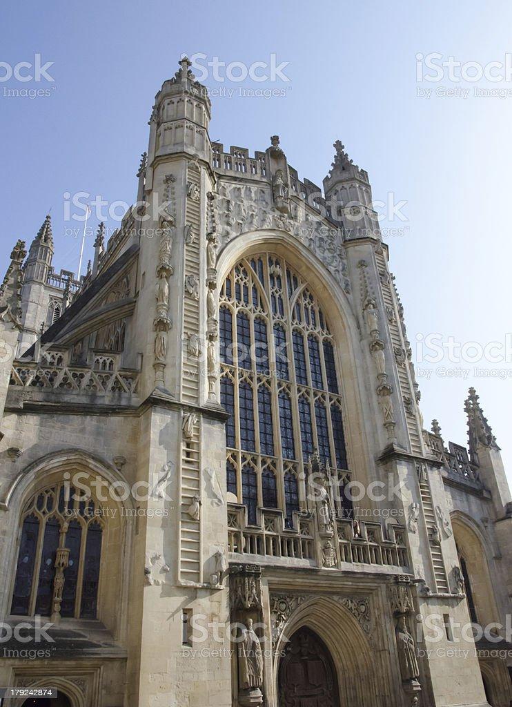 Bath Abbey facade, England royalty-free stock photo