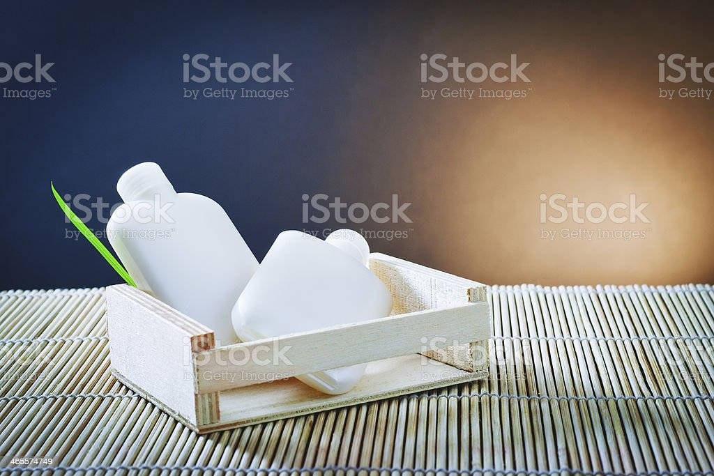 Bath accessories and thermal environment royalty-free stock photo