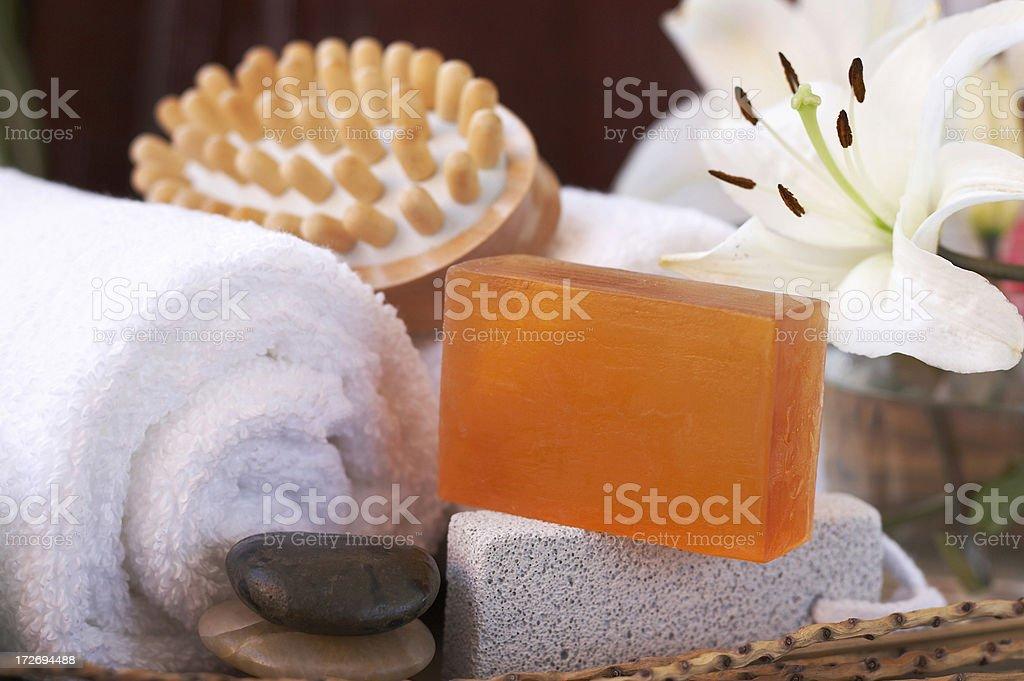 bath and massage items royalty-free stock photo
